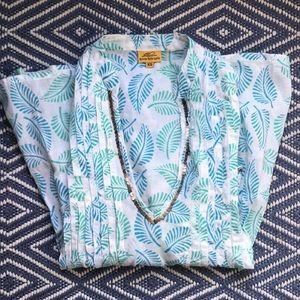 Roberta Roller Rabbit Leaf Print Cotton Tunic
